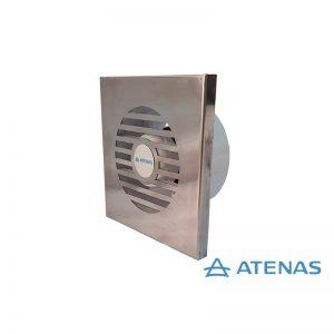 """Extractor de Baño 6"""" Frente Acero Inoxidable - Atenas Ventilación"""