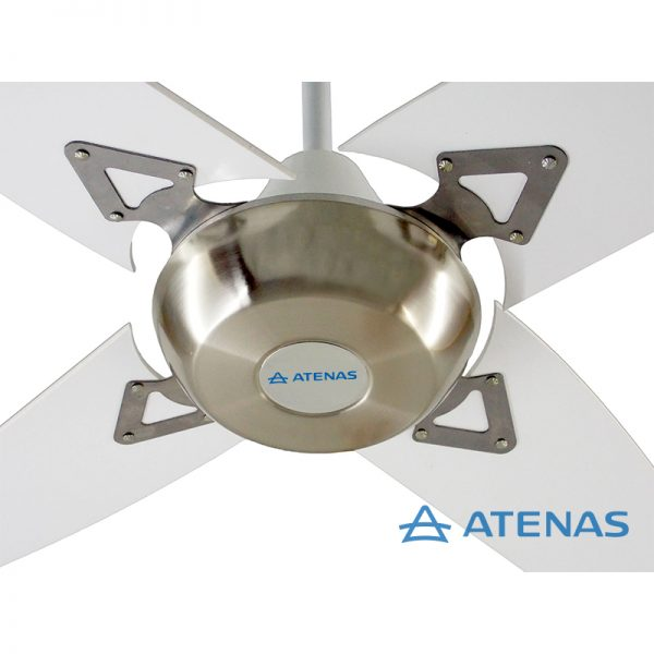 Ventilador de Techo Madera Blanco Platil - Atenas