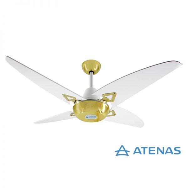 Ventilador de Techo Madera Blanco Dorado - Atenas