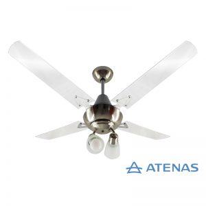Ventilador de Techo Acrílico con Araña 2 Luces Móvil - Atenas