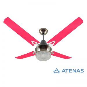 Ventilador de Techo Acrílico Fucsia con Plafón Platil Led Esmerilado 1 Luz - Atenas