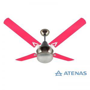 Ventilador de Techo Acrílico Fucsia con Plafón Platil Led Tallado 1 Luz - Atenas