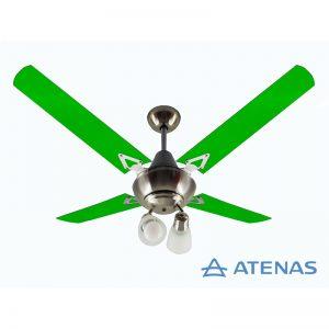 Ventilador de Techo Acrílico Verde con Araña 2 Luces Móvil - Atenas