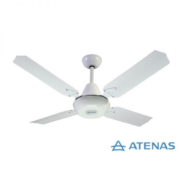 Ventilador de Techo Metálico Blanco Con Porta Pala - Atenas