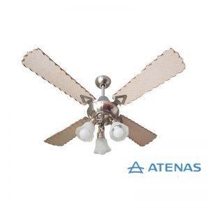 Ventilador de Techo Palas de Rattan con Araña 3 Luces Móvil - Atenas Ventilación