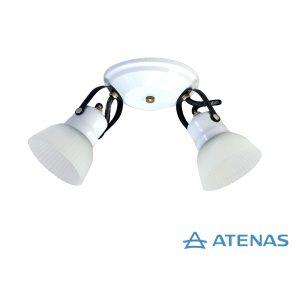 Araña 2 Luces Móvil Blanca - Atenas