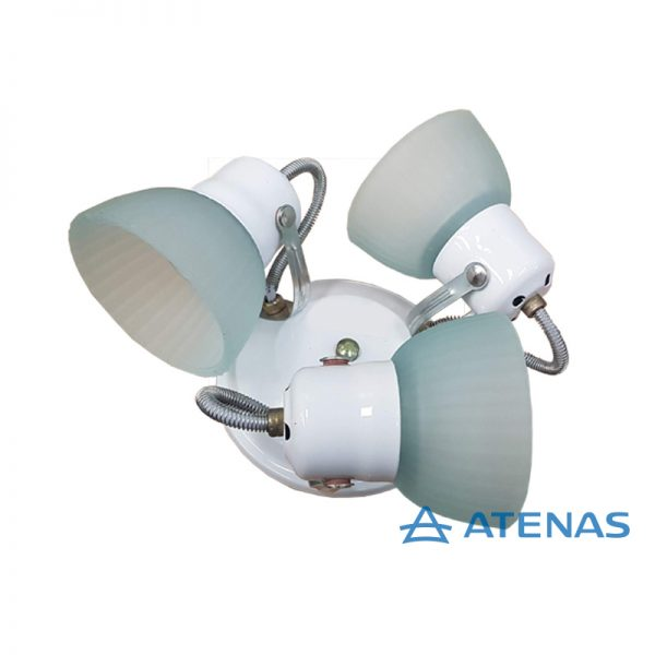Araña 3 Luces Móvil Blanca - Atenas