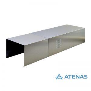 Cubre Caño Recto de 100 cm. Acero Inoxidable - Atenas