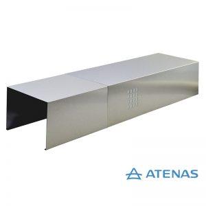 Cubre Caño Cónico de 150 cm. Acero Inoxidable - Atenas