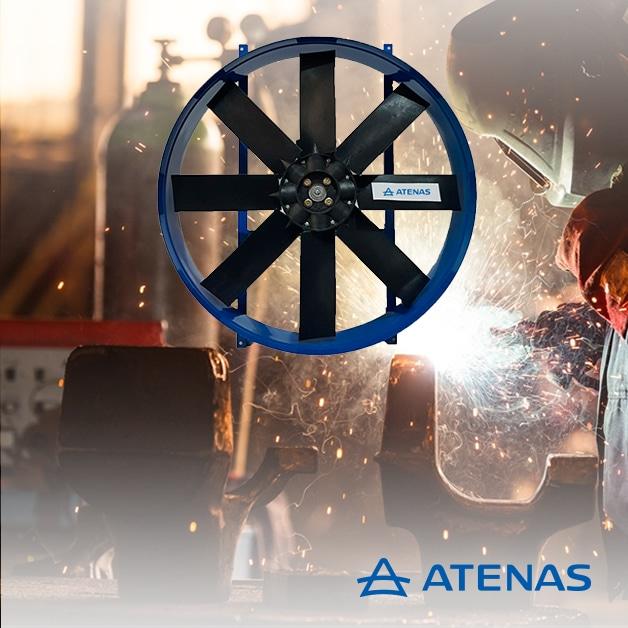 Extractores Axiales Aspas Polipropileno - Atenas