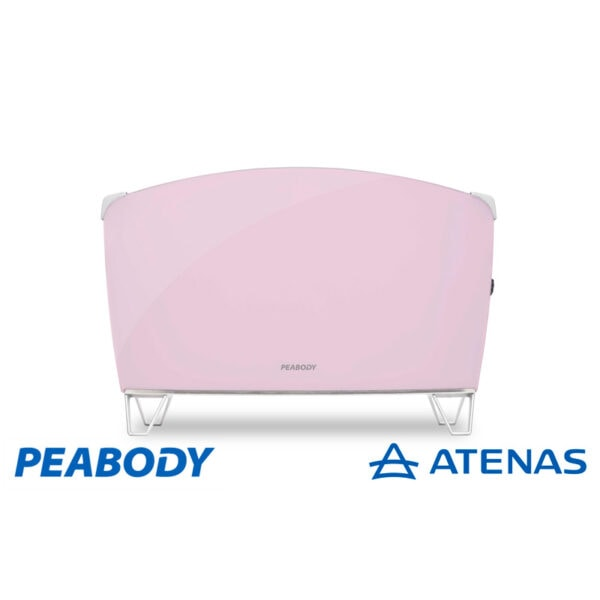 VitroConvector Doble Vidrio Peabody PE-BVC15P 1500W Rosa - Atenas