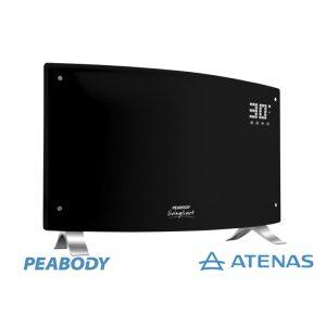 Calefactor Eléctrico Peabody Digital Negro PE-VQD20N Control Remoto - Atenas
