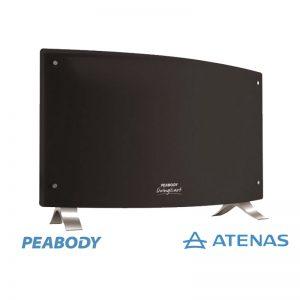 Panel Calefactor Peabody de 2000 Watts Negro PE-VQM20N - Atenas