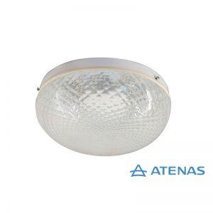 Plafón Blanco Led Esmerilado 1 Luz - Atenas