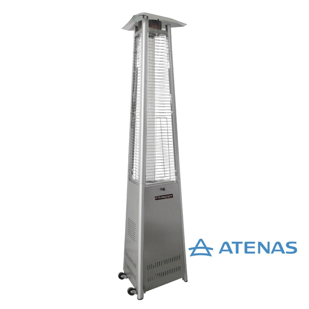 Estufa de Gas para Exterior Pirámide Acero Inoxidable Lusqtoff JK-1010 - Atenas